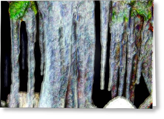 Coldly Greeting Cards - Icicles  Greeting Card by Daniel Janda