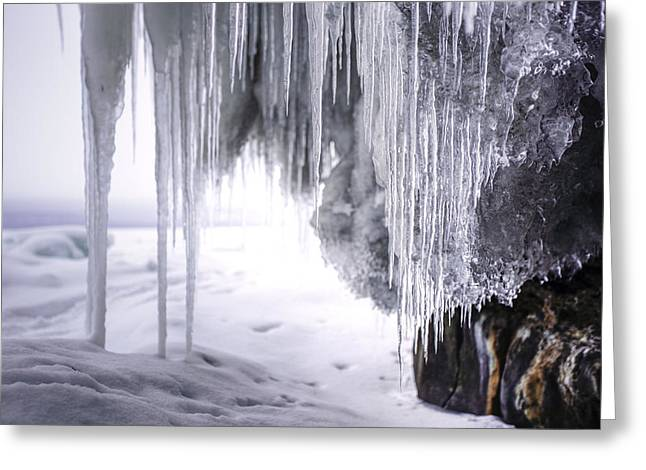40mm Greeting Cards - Icicles  Greeting Card by Jakub Sisak