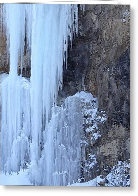 Wintrily Greeting Cards - Icicles Greeting Card by Kume Bryant