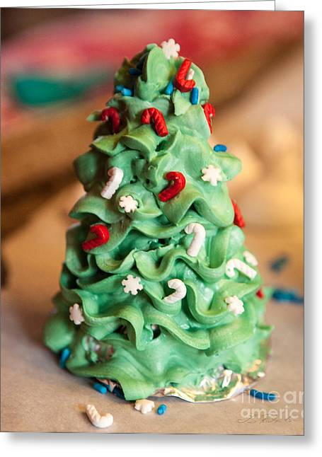 Owner Greeting Cards - Icing Christmas Tree Greeting Card by Iris Richardson