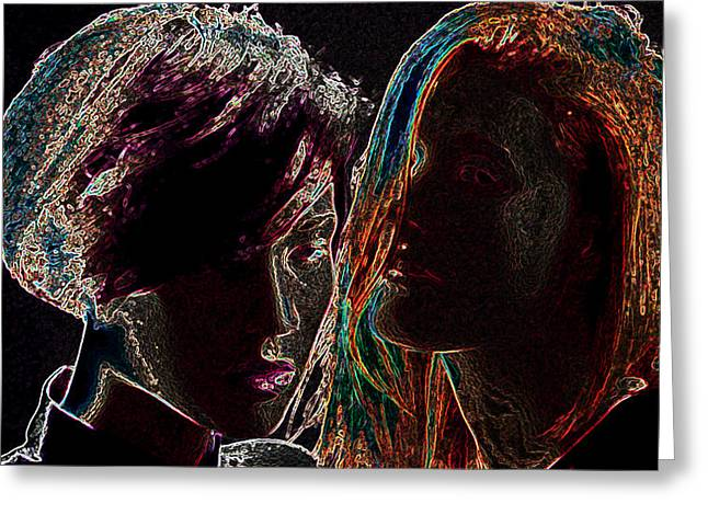 Pop Art Greeting Cards - Icona Pop Greeting Card by Marvin Blaine