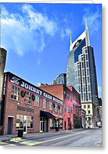 Nashville Tennessee Greeting Cards - Iconic Buildings of Nashville Greeting Card by Frozen in Time Fine Art Photography
