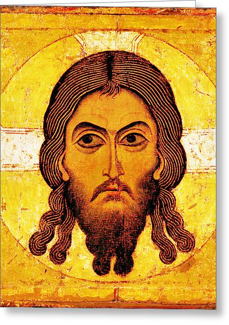 Religious Digital Art Greeting Cards - Iconic Christ Greeting Card by Gary Grayson