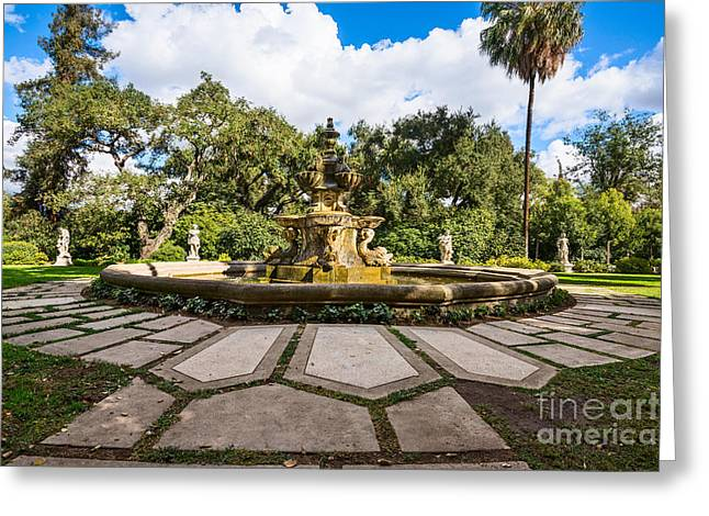Three Tiered Fountain Greeting Cards - Iconic Fountain Greeting Card by Jamie Pham