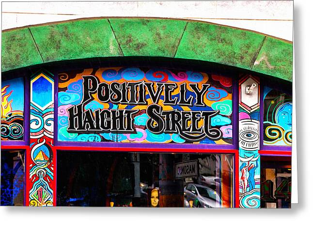 Haight Ashbury Greeting Cards - Iconic Haight-Ashbury Greeting Card by Art Block Collections