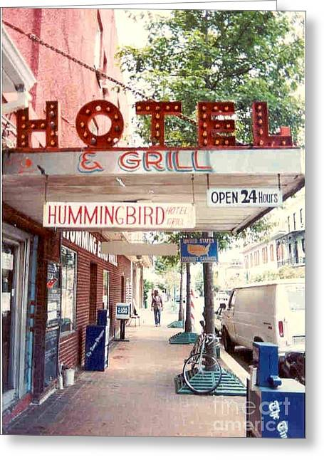 St Charles Avenue Greeting Cards - Iconic Landmark Humming Bird Hotel And Grill In New Orelans Louisiana Greeting Card by Michael Hoard