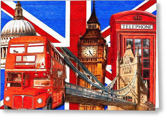 St Elizabeth Digital Greeting Cards - Iconic London Pop Art Tribute Greeting Card by Mark Tisdale