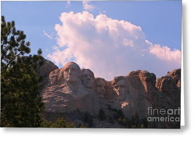 Borglum Greeting Cards - Iconic Mount Rushmore Greeting Card by John Malone