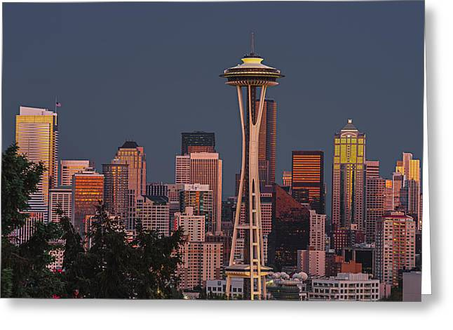 Seattle Canvas Prints Greeting Cards - Iconic Needle Greeting Card by Gene Garnace