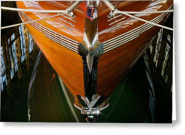 Runabout Greeting Cards - Iconic Thunderbird boathouse Greeting Card by Steven Lapkin