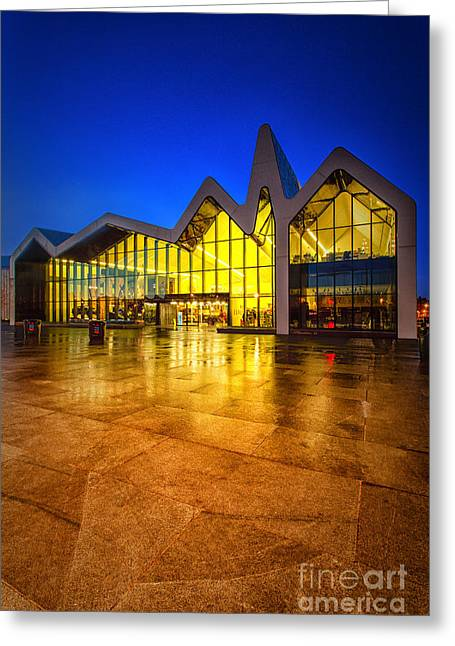 Glasgow Greeting Cards - Iconic waterfront museum glasgow Greeting Card by John Farnan