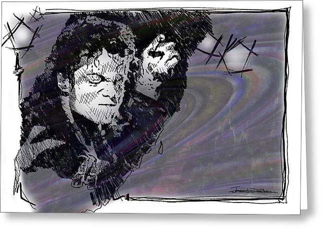 Mj Drawings Greeting Cards - ICONS - Michael Jackson Greeting Card by Jerrett Dornbusch
