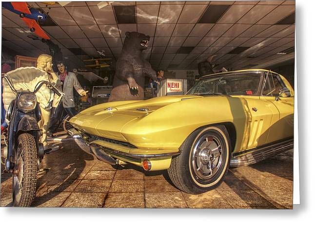 Russellville Arkansas Greeting Cards - Icons of Americana - Corvette - Elvis - Marilyn Greeting Card by Jason Politte