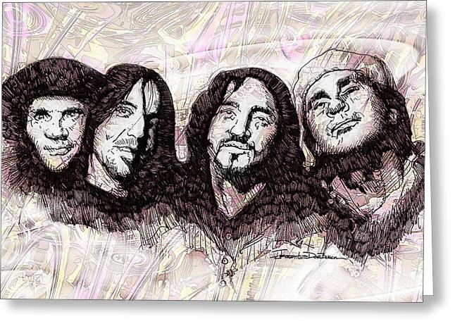 Rhcp Greeting Cards - ICONS - Red Hot Chili Peppers Greeting Card by Jerrett Dornbusch