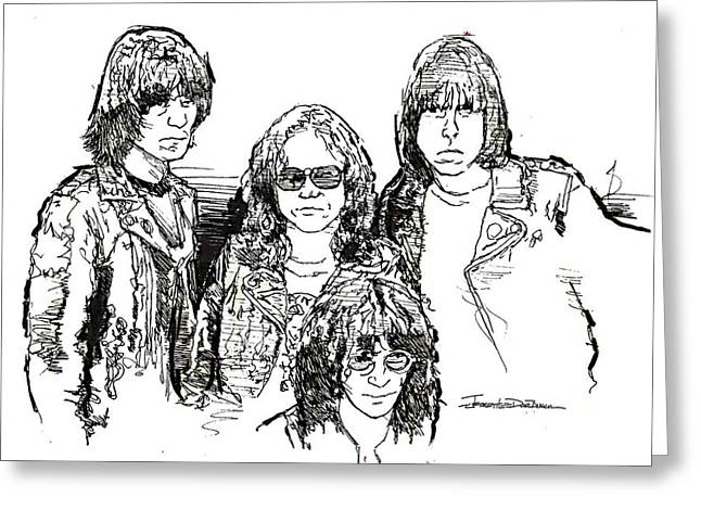 Ramones Greeting Cards - ICONS - The Ramones Greeting Card by Jerrett Dornbusch