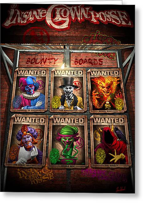 Posse Greeting Cards - ICP Bounty Boards Greeting Card by Tom Wood