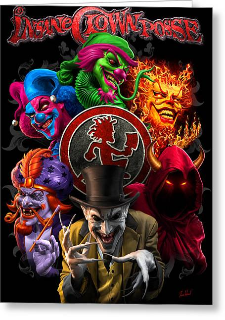Icp Inner Circle Greeting Card by Tom Wood