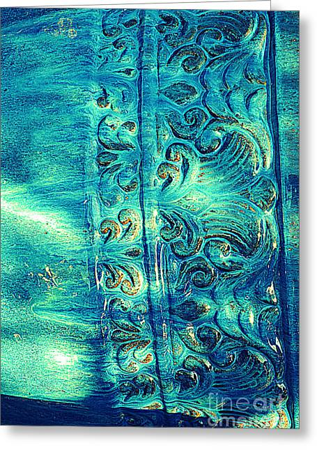 Garden Center Greeting Cards - Icy Blue Greeting Card by Susanne Van Hulst