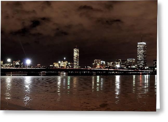 Charles Bridge Digital Greeting Cards - Icy Charles River Greeting Card by Toby McGuire