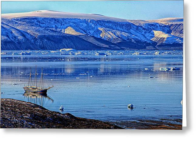 Greenland Greeting Cards - Icy Day in Greenland Greeting Card by Mountain Dreams