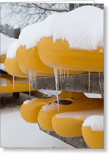 Sea Kayak Greeting Cards - Icy Kayaks Greeting Card by Tim Grams