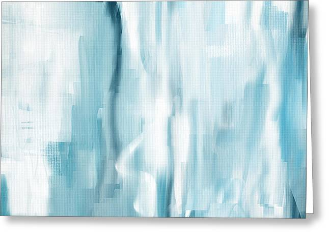 Light Blue Gray Greeting Cards - Icy Passion Greeting Card by Lourry Legarde