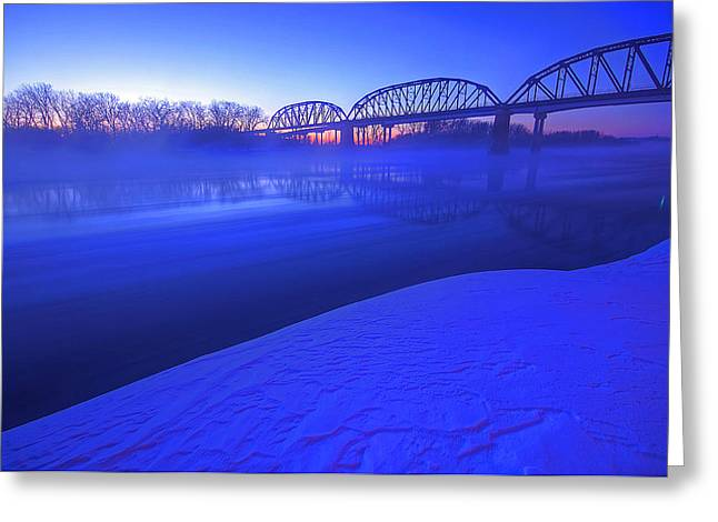 Snow Drifts Greeting Cards - Icy Twilight Greeting Card by Chris  Allington