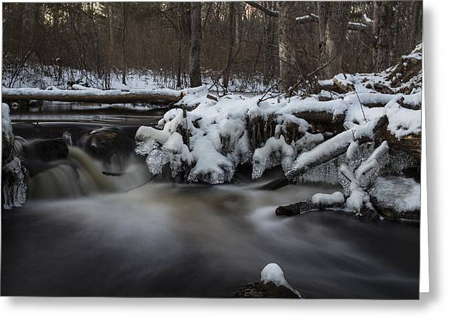 Icy Waters Greeting Card by Andrew Pacheco