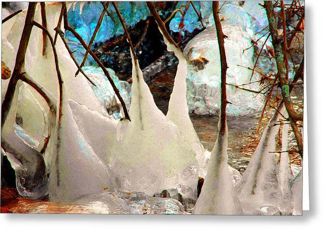 Philosophical Movement Greeting Cards - Icy Wonderland Greeting Card by Mike Flynn