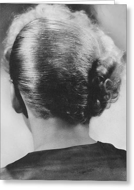 Ida Lupino's Hair Style Greeting Card by Underwood Archives