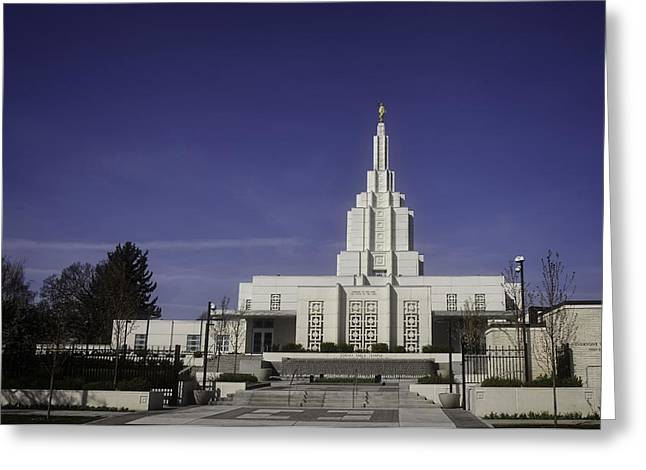 Recently Sold -  - Angel Blues Greeting Cards - Idaho Falls Temple Greeting Card by Image Takers Photography LLC - Carol Haddon