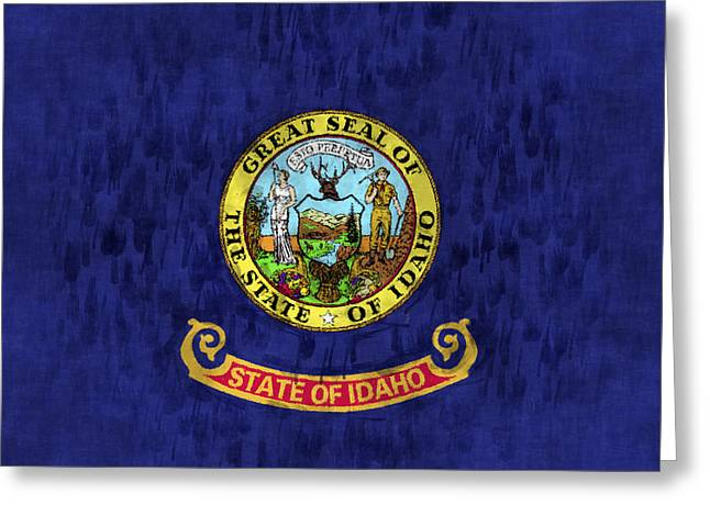 Flag Of Usa Greeting Cards - Idaho Flag Greeting Card by World Art Prints And Designs