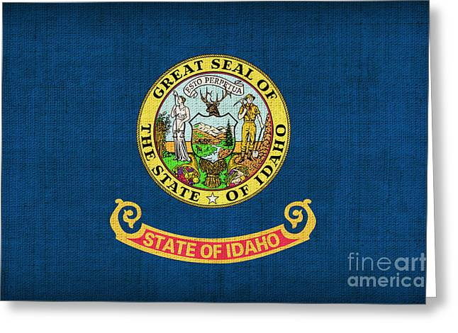 Idaho state flag Greeting Card by Pixel Chimp