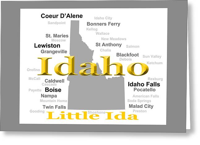 Idaho Greeting Cards - Idaho State Pride Map Silhouette  Greeting Card by Keith Webber Jr