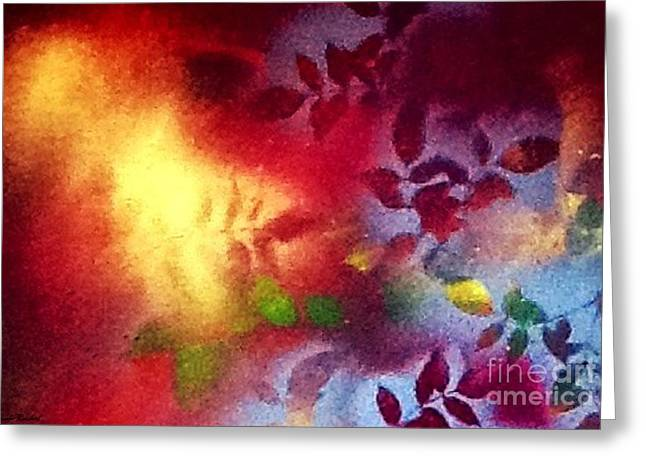 Purple Abstract Greeting Cards - Ideal World Greeting Card by Sarah  Rachel