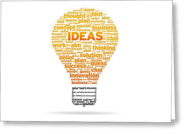 Ideas Greeting Card by Aged Pixel