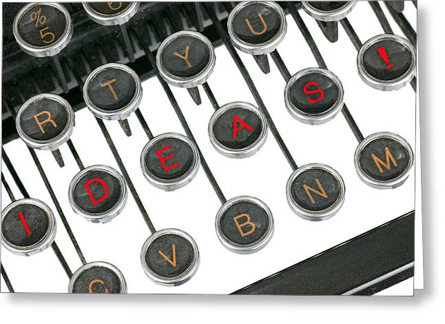 Manual Greeting Cards - Ideas typewriter Greeting Card by Rudy Umans