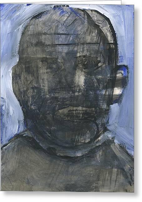 Disfigure Paintings Greeting Cards - Idiot Greeting Card by Luka Matijas