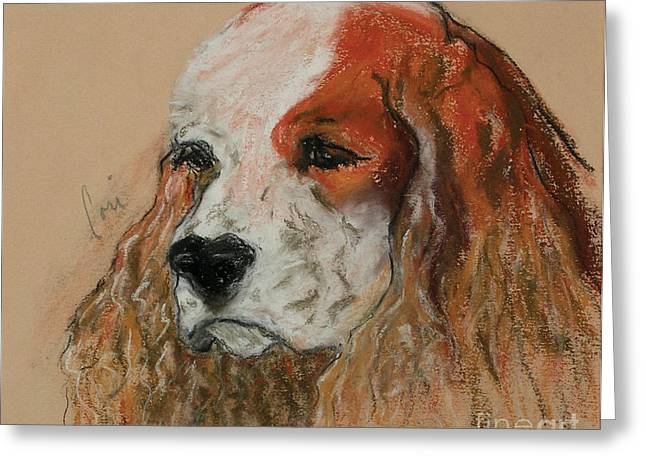 Spaniel Pastels Greeting Cards - Idle Thoughts Greeting Card by Cori Solomon