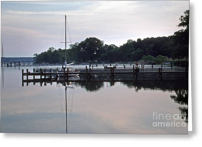 Sailboat Photos Greeting Cards - Idle Thoughts Greeting Card by Skip Willits