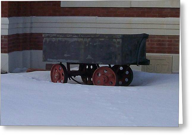 Idle Wagon Greeting Card by Jonathon Hansen
