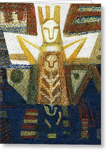 Mythology Pastels Greeting Cards - Idol Greeting Card by Olesya Kozyra