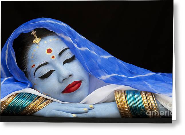 Hindu Greeting Cards - iDream Greeting Card by Tim Gainey