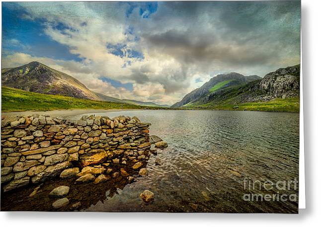 National Digital Art Greeting Cards - Idwal Lake Greeting Card by Adrian Evans