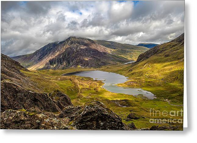 Reserve Greeting Cards - Idwal Lake Snowdonia Greeting Card by Adrian Evans