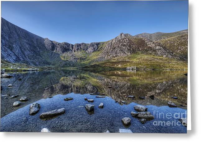 Nant Greeting Cards Greeting Cards - Idwal Sunrise Greeting Card by Darren Wilkes