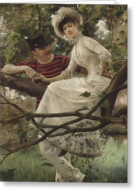 Sweet Touch Greeting Cards - Idyll Greeting Card by Carl Larsson