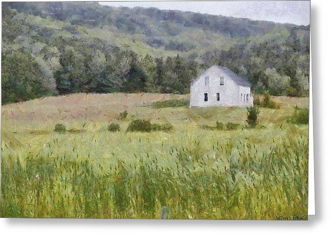 Grey Clouds Digital Art Greeting Cards - Idyllic Isolation Greeting Card by Jeff Kolker