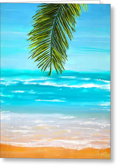 Abstract Seascape Art Greeting Cards - Idyllic Place Greeting Card by Lourry Legarde