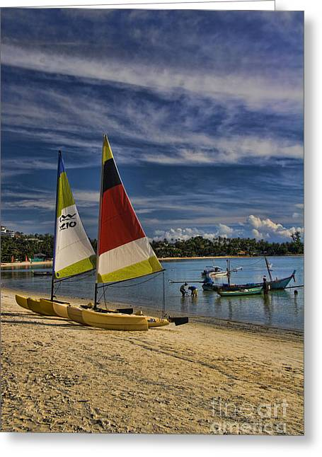 Pacific Islands Greeting Cards - Idyllic Thai Beach Scene Greeting Card by David Smith